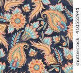 traditional oriental paisley... | Shutterstock . vector #410552941