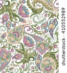 vintage floral seamless paisley ... | Shutterstock . vector #410552989
