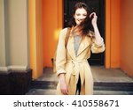 young stylish hipster girl...   Shutterstock . vector #410558671