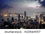hong kong from the victoria peak | Shutterstock . vector #410564557