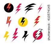 vector set icons black... | Shutterstock .eps vector #410574145