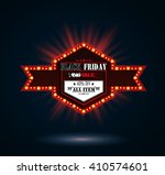 black friday retro light frame | Shutterstock . vector #410574601