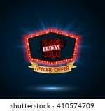 black friday retro light frame | Shutterstock . vector #410574709