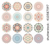 mandala vector design elements. ... | Shutterstock .eps vector #410587597