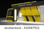 blank modern booth exhibition... | Shutterstock . vector #410587921