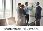diverse group of four business... | Shutterstock . vector #410596771