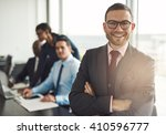 confident smiling business... | Shutterstock . vector #410596777
