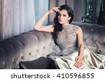 glamorous fashion model woman... | Shutterstock . vector #410596855