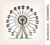 ferris wheel sketch style... | Shutterstock . vector #410600851