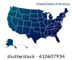 map of u.s.a | Shutterstock .eps vector #410607934