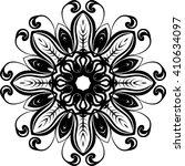 round black mandala vector... | Shutterstock .eps vector #410634097