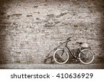 black retro vintage bicycle... | Shutterstock . vector #410636929