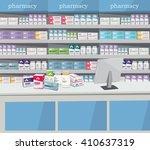 modern interior pharmacy and...   Shutterstock .eps vector #410637319