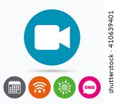 wifi  sms and calendar icons.... | Shutterstock .eps vector #410639401