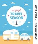 camping travel season | Shutterstock .eps vector #410651605