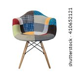 Modern Fabric Armchair With...