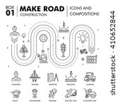 modern road building and bridge ... | Shutterstock .eps vector #410652844