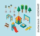 isometric vector park | Shutterstock .eps vector #410654449
