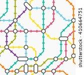subway map. seamless pattern.... | Shutterstock .eps vector #410664751