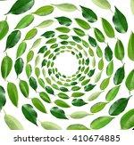 Green Tea Leaves Shaped As...
