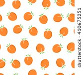apricot seamless pattern. ripe...   Shutterstock .eps vector #410675251