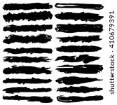 set of grunge brush strokes ... | Shutterstock .eps vector #410679391