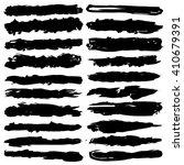 set of grunge brush strokes ... | Shutterstock .eps vector #410679391