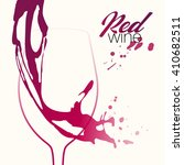 silhouette wine glass with...   Shutterstock .eps vector #410682511