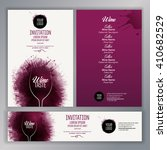 design template list  wine... | Shutterstock .eps vector #410682529