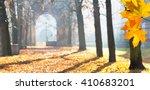 Autumn Colonnade With A Gatewa...