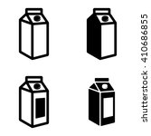 vector black milk carton... | Shutterstock .eps vector #410686855