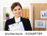 beautiful female accountant... | Shutterstock . vector #410689789