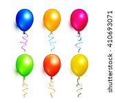 colorful balloons collection.... | Shutterstock .eps vector #410693071