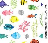 Watercolor Colorful Fish...