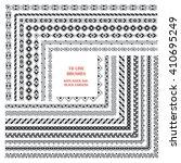 vector set of decorative... | Shutterstock .eps vector #410695249