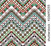 vector folk tribal seamless...   Shutterstock .eps vector #410695255