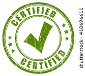 certified tick stamp vector... | Shutterstock .eps vector #410696611