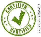 certified tick stamp vector... | Shutterstock .eps vector #410696611