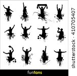 silhouettes for advertising... | Shutterstock . vector #410705407