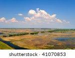 danube delta landscape in spring | Shutterstock . vector #41070853