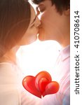 young romantic couple kissing | Shutterstock . vector #410708614
