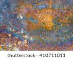 rusty corroded plate | Shutterstock . vector #410711011