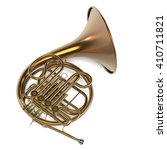 3d Renderings Of French Horn