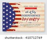 vintage invitation card design... | Shutterstock .eps vector #410712769