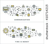 communication and time is money.... | Shutterstock .eps vector #410714215