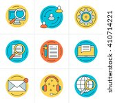 thin line icon set. vector flat ... | Shutterstock .eps vector #410714221