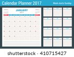 calendar planner for 2017 year. ... | Shutterstock .eps vector #410715427