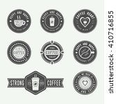 set of vintage coffee logos ... | Shutterstock .eps vector #410716855
