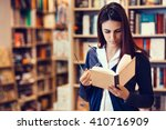 student reading a book reading... | Shutterstock . vector #410716909