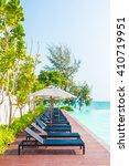 beautiful luxury umbrella and... | Shutterstock . vector #410719951